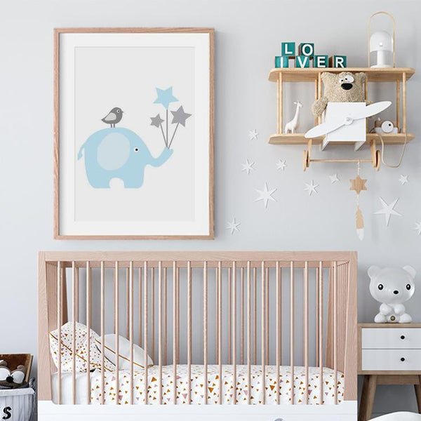 Baby Boy Birth Stats Art Prints