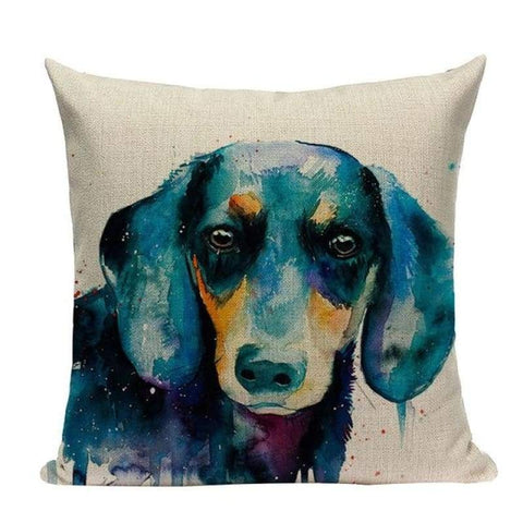 Tiptophomedecor Painted Dogs Cushion Covers