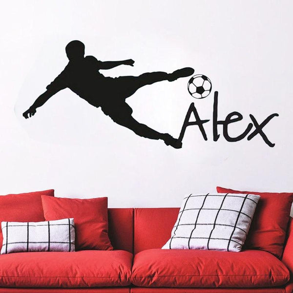 Personalized Name Football Wall Decal Sticker-Tiptophomedecor-Interior-Design-Home-Decor