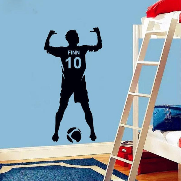 -0272- Personalized Girls Soccer Wall Decal Soccer Theme Wall Decal Dribbling Custom Girls Name Soccer
