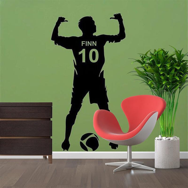 Personalized Name Number Football Wall Decal Home Decor TipTopHomeDecor