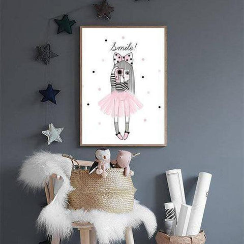 Pink Girl Custom Name Wall Art-TipTopHomeDecor