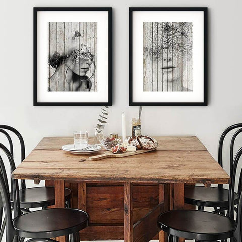 Portrait Fantasy Wood Pattern Canvas Art Prints-TipTopHomeDecor