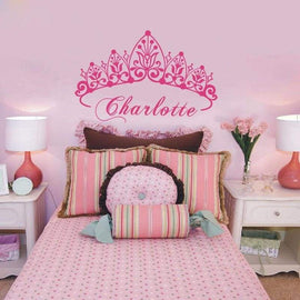 Tiptophomedecor Princess Crown Name Decal