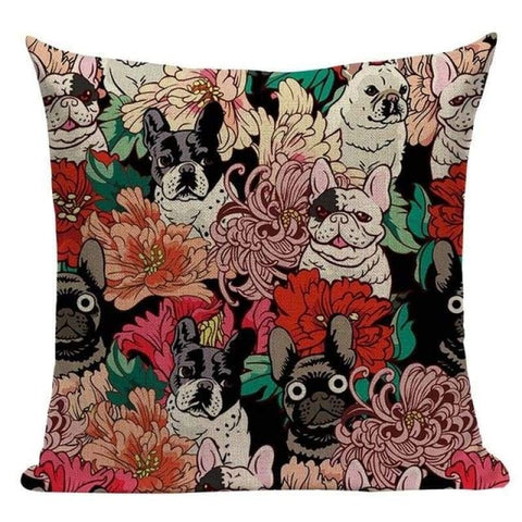 Tiptophomedecor Pug Dog Cushion Covers