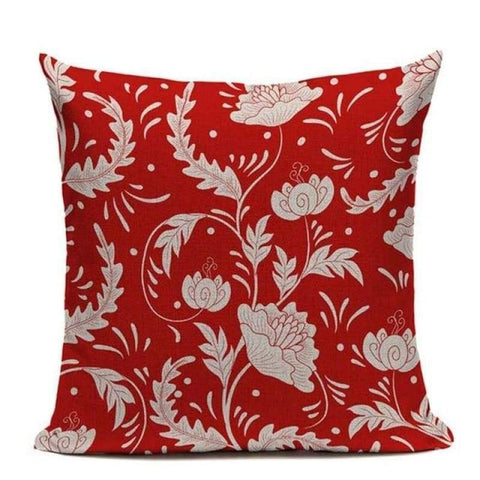 Red Retro Cushion Covers-Tiptophomedecor