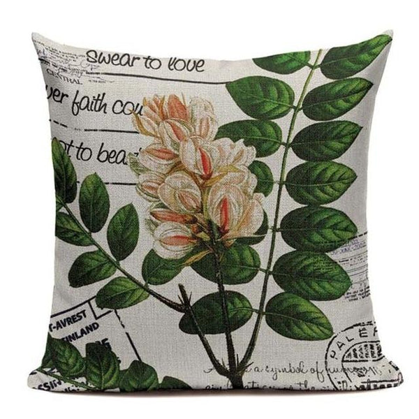 Postal Leaves Cushion Covers