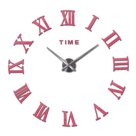 Roman 3D Wall Clock Decal-TipTopHomeDecor