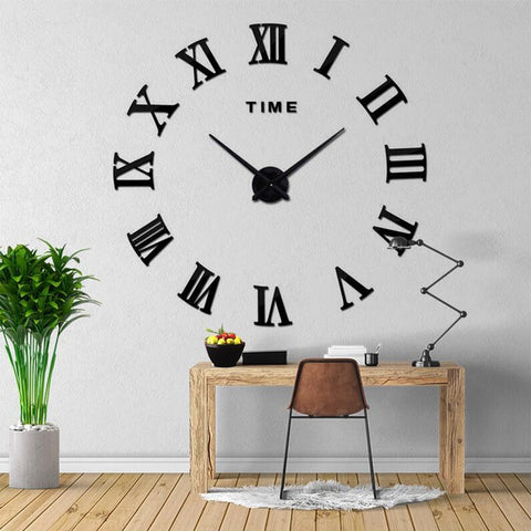 Roman 3D Wall Clock Decal