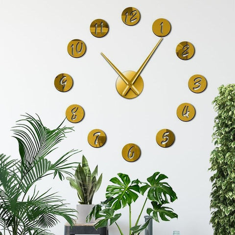 Round Number 3D Wall Clock Watch Decal-Tiptophomedecor-Interior-Design-Home-Decor