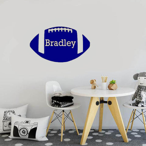 Rugby Ball Custom Name Sticker