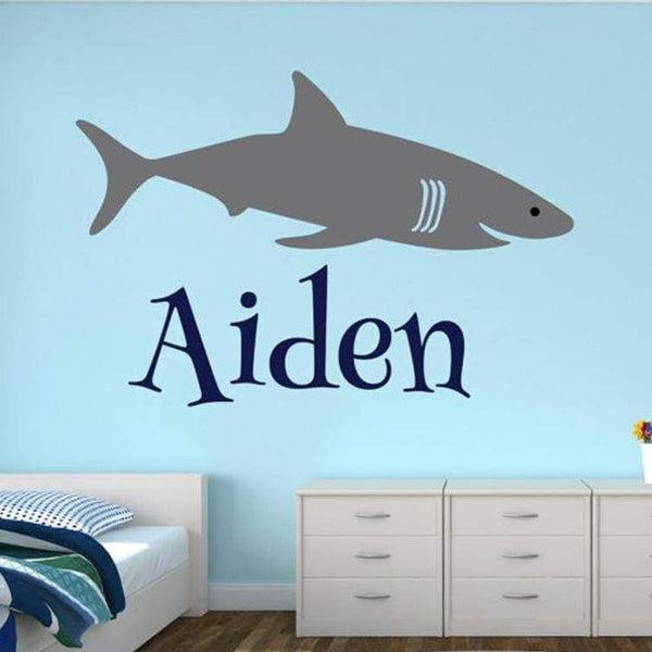 Tiptophomedecor Shark Custom Name Sticker