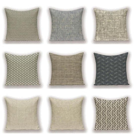 Uni Color Combo Cushion Covers