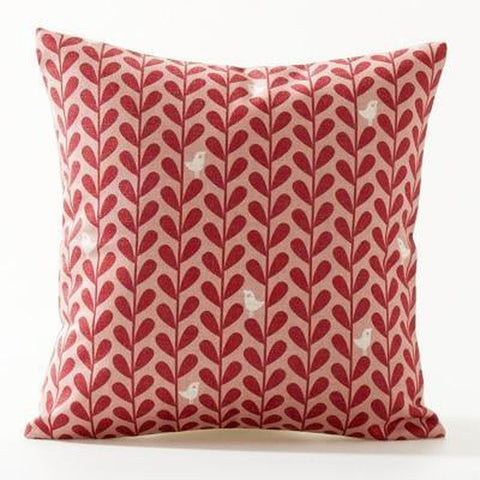 Simple Yellow Red Leaves Geometric Nordic Pattern Cushion Covers-Tiptophomedecor