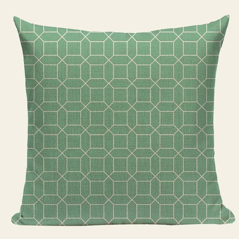 Soft Light Blue Mint Green Geometric Throw Pillow Cases-Tiptophomedecor