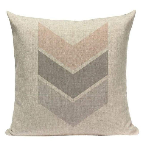 Soft Pink Grey Leaves Cushion Covers-TipTopHomeDecor
