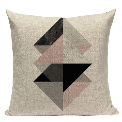 Soft Pink Nordic Geometric Pillow Cushion Covers-Tiptophomedecor