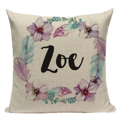 Soft Pink Flowers Girls Nursery Kids Room Pillow Covers-Tiptophomedecor