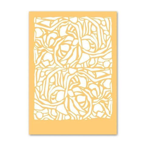 Soft Yellow Gallery Wall Abstract Nordic Canvas Line Art Prints-TipTopHomeDecor