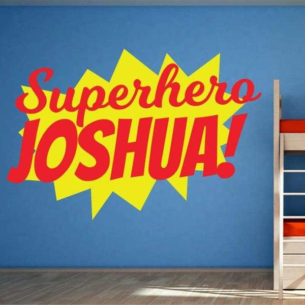 Tiptophomedecor Superhero Custom Name Sticker