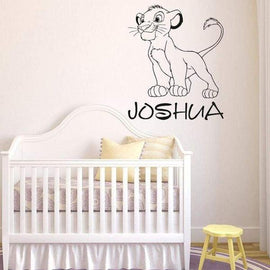 Tiptophomedecor Sweet Lion Custom Name Decal