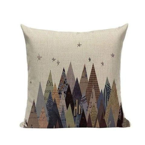 Tiptophomedecor Mountain Oil Painting Pillowcases