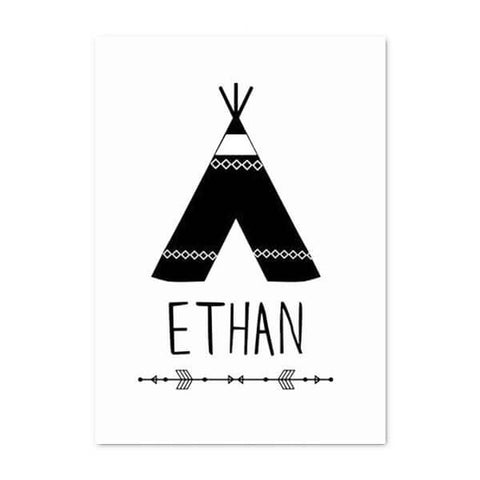 Tribal Custom Name Wall Decor-TipTopHomeDecor