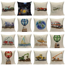 Truck Car Balloon Painting Pillow Cases-TipTopHomeDecor