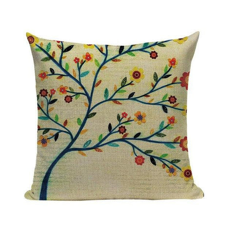 Vintage Flower Tree Blossom Art Pillow Cases-Tiptophomedecor