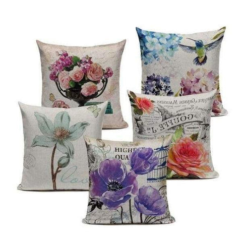 Vintage Flowers Cushion Covers Tiptophomedecor
