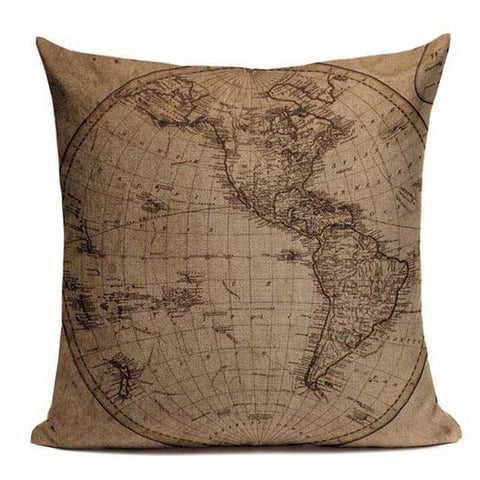 Vintage Marine Style Hand Painted Ship Art Throw Pillow Cases-Tiptophomedecor