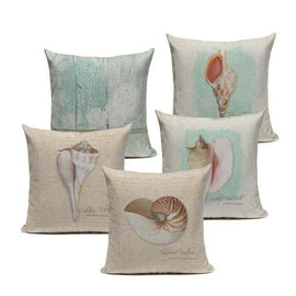 Vintage Sea Conch Shells Cushions Covers-TipTopHomeDecor