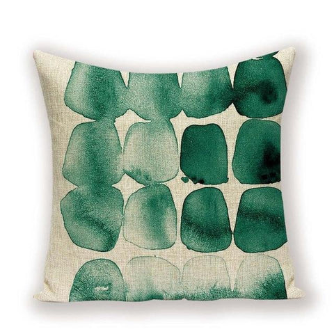 Watercolor Art Geometric Botanical Combo Throw Pillow Covers-Tiptophomedecor-Interior-Design-Home-Decor