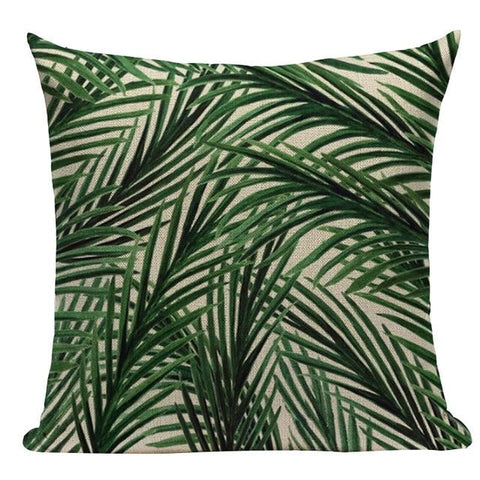Watercolor Leaves Botanical Green Plant Cushion Covers-TipTopHomeDecor