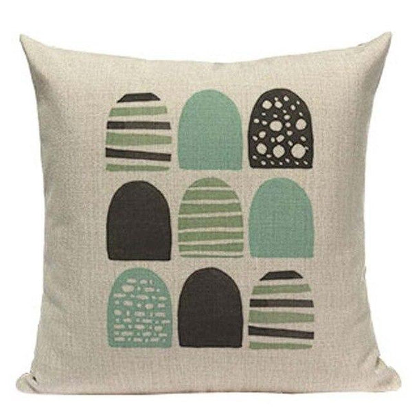 Watercolor Round Dot Nordic Pattern Art Cushion Covers-Tiptophomedecor