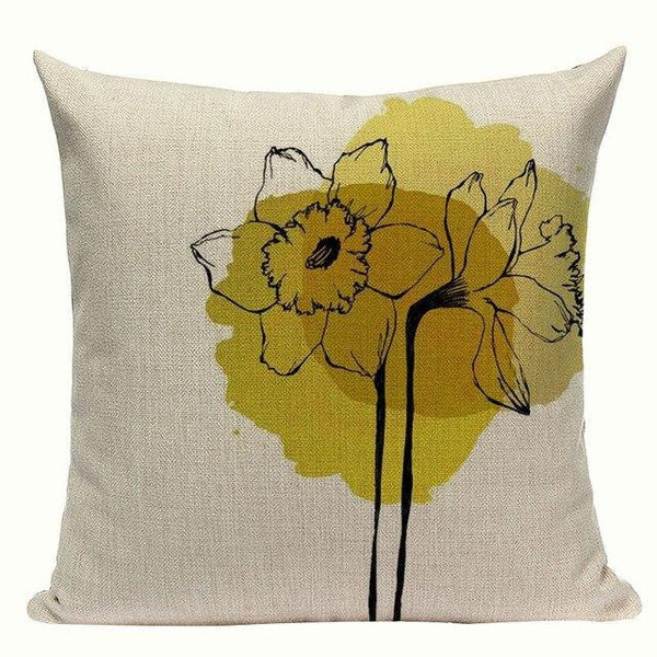 Watercolor Spot Sketch Animal Flower Cushion Covers-Tiptophomedecor-Interior-Design-Home-Decor