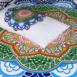 White Bright Fresh Flower Mandala Duvet Cover Set-TipTopHomeDecor