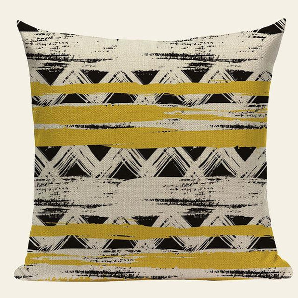 Yellow Grey Blue Geometric Nordic Throw Pillow Cases Cushion Covers-Tiptophomedecor