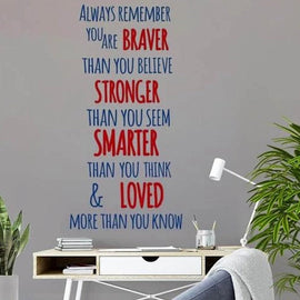 You Are Braver Quote Wall Decal