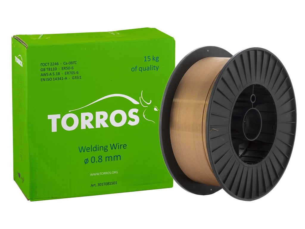 TORROS ER50-6 0.8mm D300 Welding Wire, 15kg - stokker.co.uk