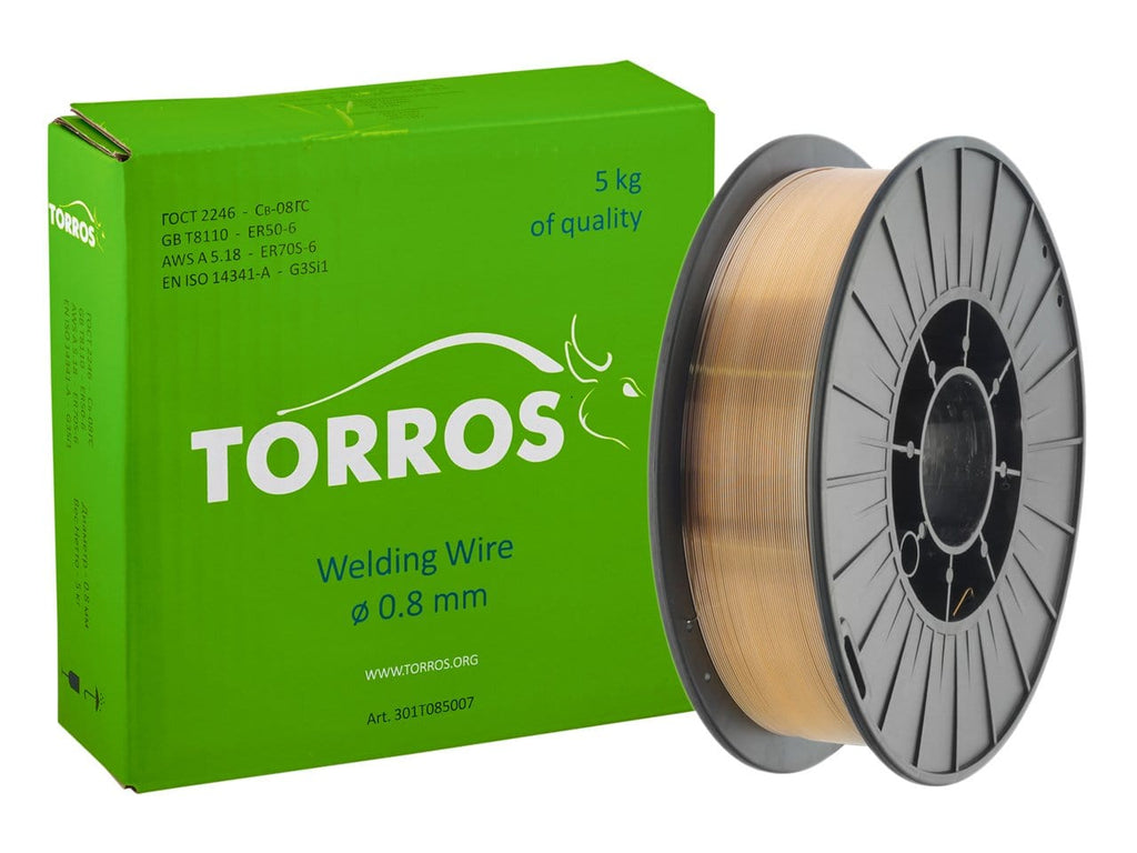 TORROS ER50-6 0.8mm D200 Welding Wire, 5kg - stokker.co.uk