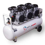 AFLATEK Silent PRO100 3-phase Air Compressor, Oil free - stokker.co.uk