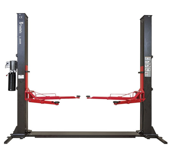 TWO-POST CAR LIFT 4T REDATS L-200R WITH SEMI-AUTOMATIC (3 PHASE) - stokker.co.uk