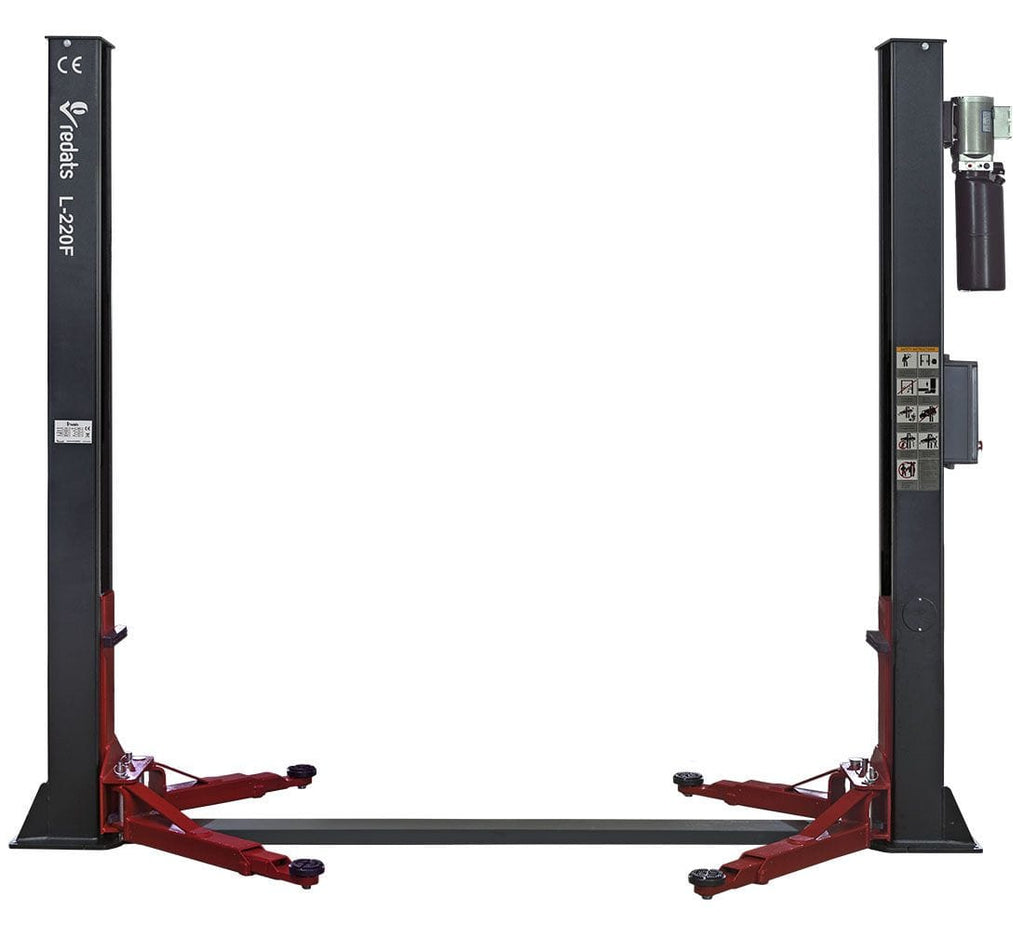 ATS Two Post Car Lift 4T Redats L-220F Automatic 230V (Single Phase) - stokker.co.uk