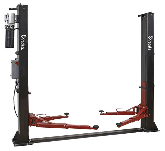 TWO-POST CAR LIFTER 4T REDATS L-220F AUTOMATIC 230V (Single Phase) - stokker.co.uk