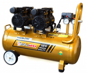 AFLATEK Silent 50-2 EXC Air Compressor, water/oil separator included.
