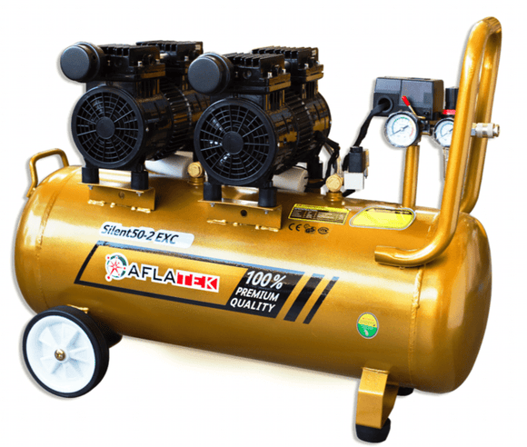 AFLATEK Silent 50 EXC Air Compressor, Oil-Free, water/oil separator included. - stokker.co.uk