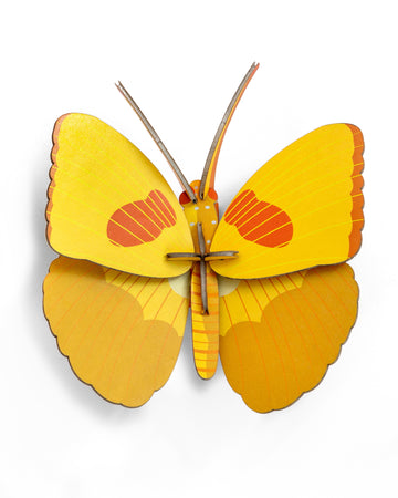 Muur Deco - Yellow Butterfly