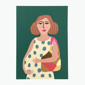 Mini-poster A5 Atelier titi 'mom in polkadot dress'
