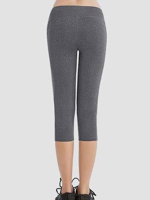 fc659dcf8f22b Skinny Capris Yoga Pants With Pockets On Waistband & Sides ...